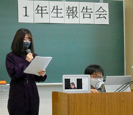 1年生による実習報告会を開催/実学臨床教育Ⅰ