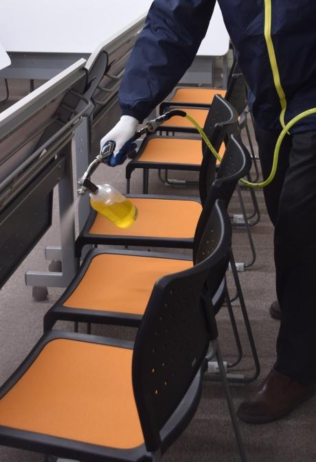 仙台駅東口キャンパスを「抗ウイルス触媒コーティング」